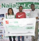 Asobi smiles home with NaijaBet.com #800k cheque